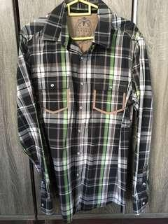 Checkered plaid shirt EDC long sleeve