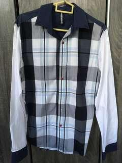 Long sleeve checkered special design shirt
