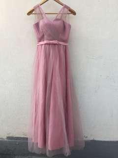 豆沙色姊妹裙