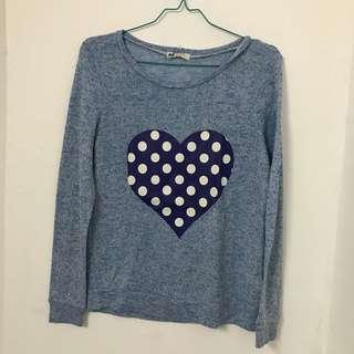 forever 21 knit heart sweater
