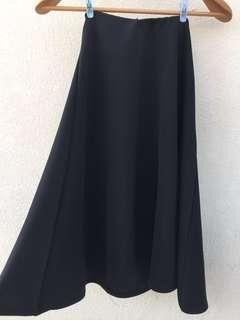 韓國黑色傘型半截裙