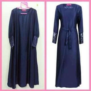 Pre❤️ Jubah Satin Sequin / Dress
