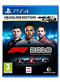F1 2018 PS4 game (New)