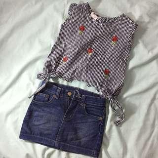 (KIDS) Top & Skirt Bundle