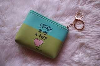 Cute coin purse with keychain