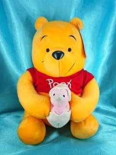 Disney Sega Fun Fan Amuse Winnie the Pooh 小熊維尼公仔 2003 復活節造型 29 cm 高