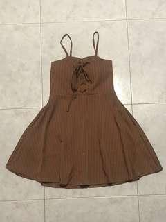 Brown Striped Dress