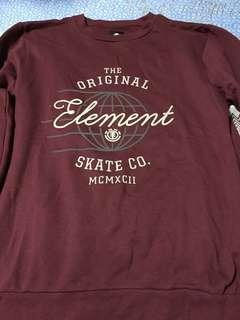 Element hoodie red m 95 %