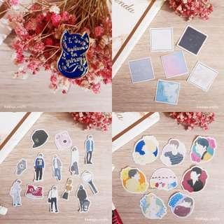 """[LIMITED SET] Enamel Pin """"I do believe in Galaxy"""" enamel pin + 3sets BTS stickers"""