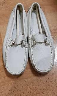 Geniune Leather White Boy Loafers Sz 32