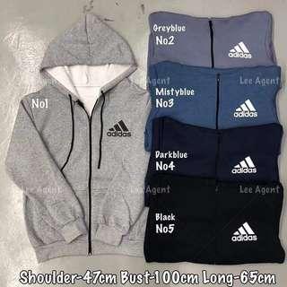 🚚 100% Cotton Sweater Hoodie Zip (卫衣)