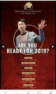 Tickets to Joey Yap's Feng Shui & Astrology 2019 (KL) - English Session
