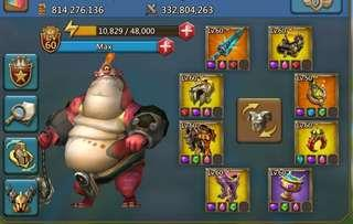 814 mil Lords Mobile acct for Sale