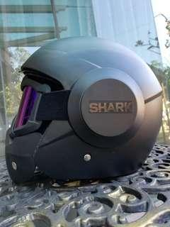 shark raw helmet cafe racer