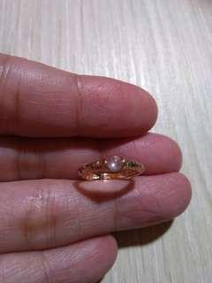 🚚 緬甸玉玻璃種起光18k玫瑰金尾戒