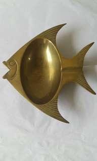 Vintage Copper Fish Dish 铜制魚形碟