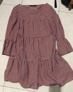 ZARA summer checker dress