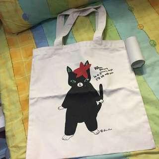 貓貓 文青 布袋 Tote Bag