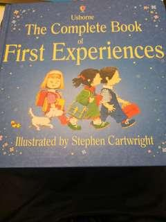 Children's Book the complete book of first experiences