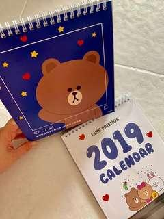 🚚 Only 1 on Carousell! Authentic Korea LINE Friends Missha 2019 Desktop Calendar 🗓
