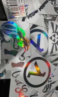 Rainbow colour stickers