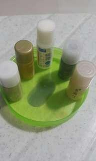 Free 5 plastic 5ml n 6ml  bottles