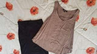 Bundle - top and skirt forever 21