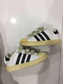 Adidas Superstar baby shoes preloved used authentic size 21