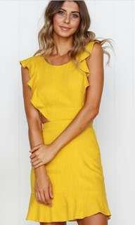 BNWT stunning mustard mini dress