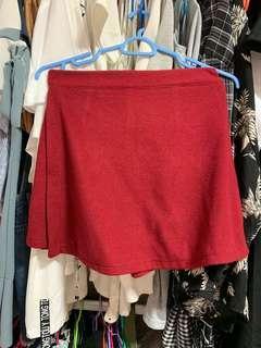 Red origami skirt/skort