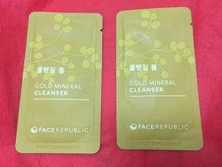 Face republic gold mineral cleanser