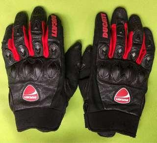 Official Ducati Flow Short Leather Gloves