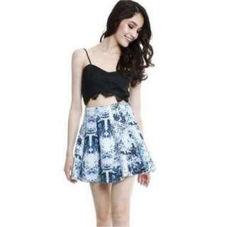 🔺BN🔺MDS Florence Skirt in Blue Florals