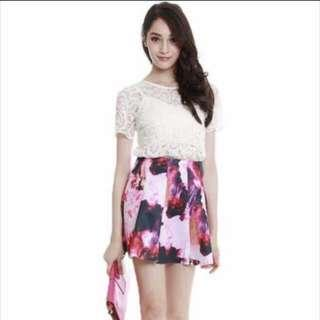 🔺BN🔺MDS Florence Skirt in Pink Florals