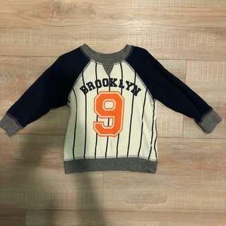 H&M棒球衛衣⚾️12-18M
