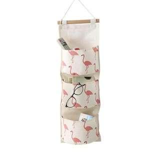 🚚 Flamingo 3 Pocket Wall Hanging Organizer