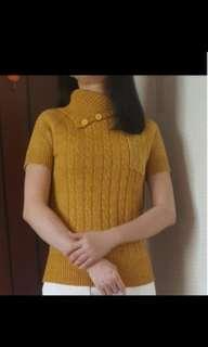 Elegan Yellow Top & Silk Dress (2items)