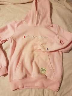 Fake champion pink fleece hoodie