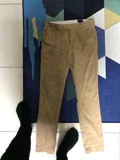 🚚 全新 H&M 休閒西裝褲 Slim fit  Dress Pants Khaki HM