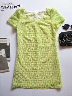 Dress Neon Green