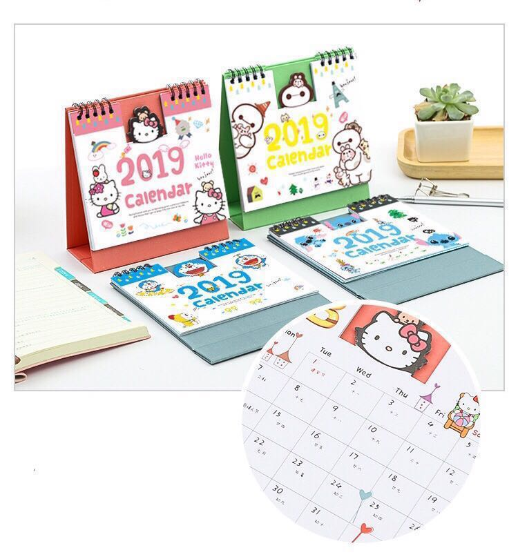 photo about Cute Calendars known as 2019 lovable calendars