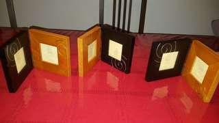 Brand new wooden photo frames