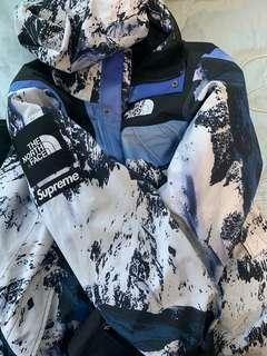 Supreme TNF jacket snow mountain 雪山