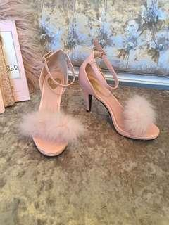 LilLilly pink faux fur heels