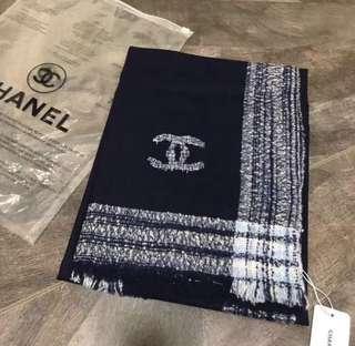 Chanel CC Tweeded Shawl