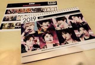 2019/2020 EXO Desk Calendar