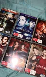 Supernatural season 1-6 DVDs