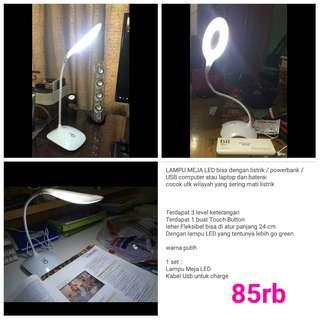 Lampu usb/batree leher elastis bisa di lipat2