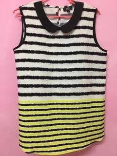 F&F stripes sleeveless blouse
