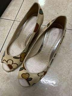 🚚 全新 花紋厚底鞋 厚底鞋 楔形鞋 女鞋 37-38號
